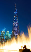 Dubai Fountain and The Burj Khalifa
