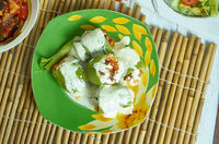 Kolokithakia Gemista with Avgolemono Sauce