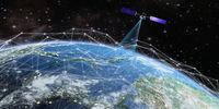 Satellite transmits a signal
