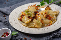 Dumplings with cabbage is a traditional dish of Eastern Europe.