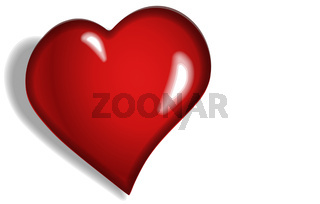 A large red heart is a symbol of love.