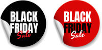 Black Friday Labels White Background