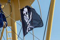 Piratenflagge auf Texel