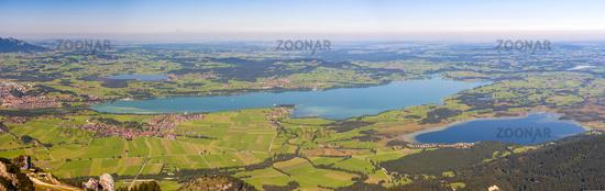 panoramic landscape at Allgaeu in Bavaria