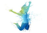 Dancing girl splashes 2.eps