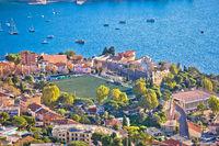 Villefranche sur Mer. Idyllic town on French riviera coastline view
