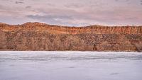 Calm dusk over Colorado foothills
