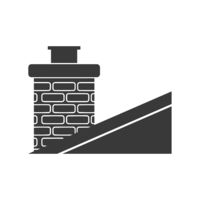 Chimney On Roof Icon Vector