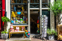 Little shop in Amsterdam in Summertime