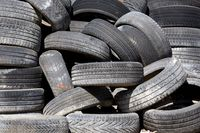 Old car tyres
