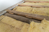 Mineral fiber for thermal insulation for house building