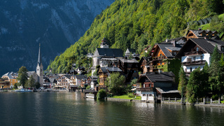View of Hallstatt from Hallstatt Lake