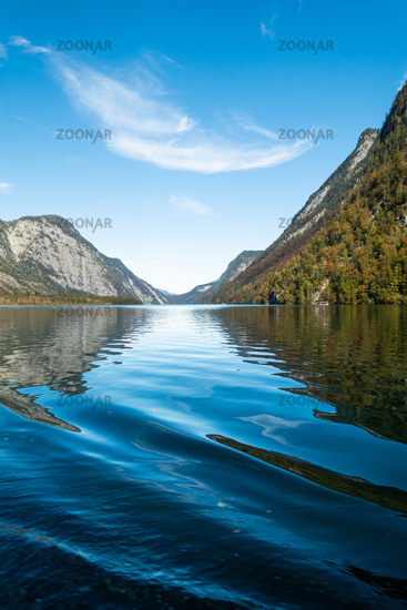 Boat trip on the Königssee, Berchtesgaden National Park, Germany