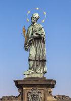 Statue of John of Nepomuk on the Charles bridge in Prague