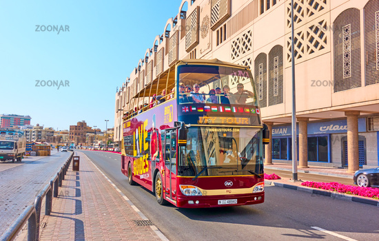 Tourist bus in Dubai