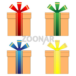 A box with a ribbon