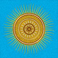 Tribal sun mosaic