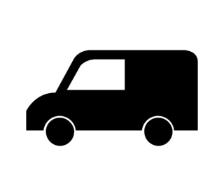 van icon illustrated in vector on white background