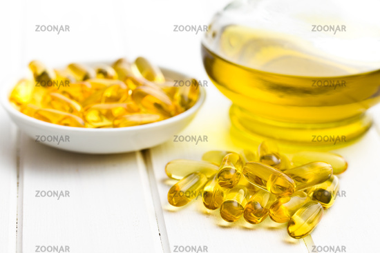 Cod liver oil. Gel capsules