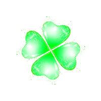 Natural green leaf of shamrock as a drink's splash.
