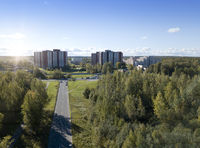 A suburb of St. Petersburg - New Peterhof, new residential areas and a sports complex next to old wo