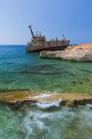 Old ship wreck near coast - Paphos Cyprus