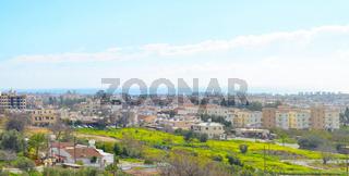 Paphos panoramic skyline city Cyprus