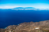 View from La Gomera over to the island La Palma, Canary Islands