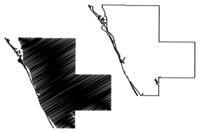 Sarasota County, Florida (U.S. county, United States of America, USA, U.S., US) map vector illustration, scribble sketch Sarasota map