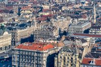 Cityscape with historical part of city Budapest, Hungary.
