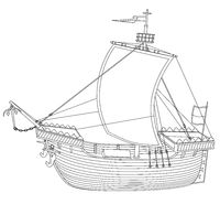 Kogge, traditional sailing ship during the Hanseatic League