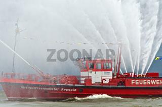 Löschboot der Feuerwehr Hamburg