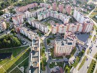 Sosnovy Bor, Leningrad Region, Russia. Aerial photo