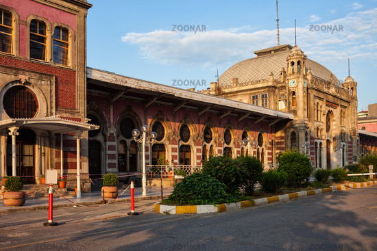 Sirkeci Railway Station at Sunset in Istanbul