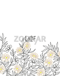 Floral decoration with leaves