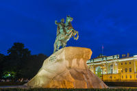 Monument of Russian emperor Peter the Great (The Bronze Horseman) - Saint-Petersburg - Russia