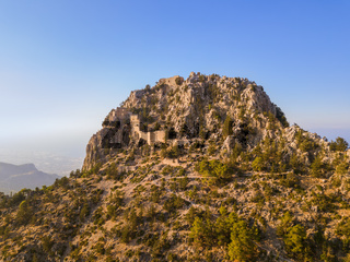 Buffavento Castle in Kyrenia region - Northern Cyprus - aerial view