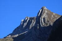 Visible rock layers on Mount Bockmattlistock.