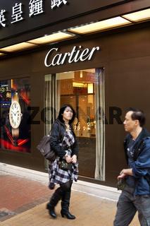 Boutique der Schmuck- und Uhrenfirma Cartier
