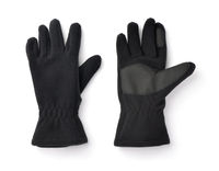 Pair of black fleece gloves