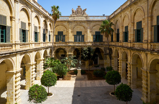 Neptune Courtyard in the Grandmaster's Palace. Valletta. Malta