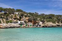 Bootshäuser in der Cala Llombards, Mallorca