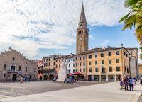 Cityscape of Portogruaro in Veneto, Italy