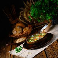 krupnik a delicious Polish barley soup