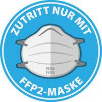 sign with text ZUTRITT NUR MIT FFP2 MASKE