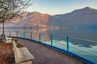 Romantic Iseo lake view and benches
