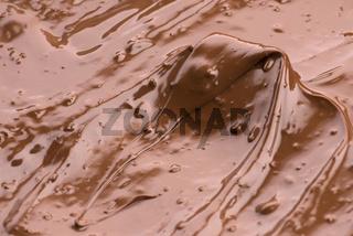Melted Chocolate Background. Close-up Image