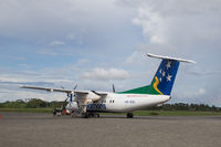 Propeller plane at Honiara airport, Solomon Islands