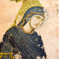 Mosaic of Virgin Mary in Chora Church, Istanbu