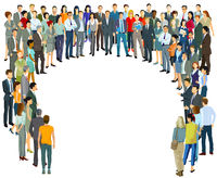 Large group of people in the community - vector illustration